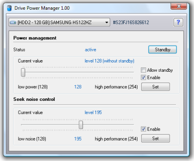 Windows 7 Drive Power Manager 1.10 full